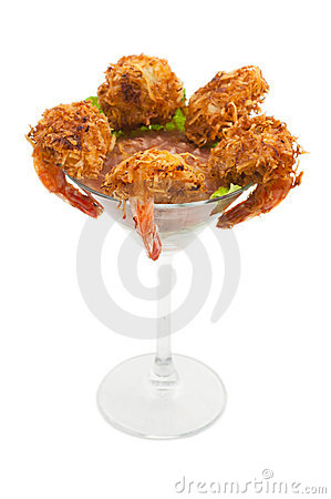 Free American Shrimps Cocktail Royalty Free Stock Photos - 19093308