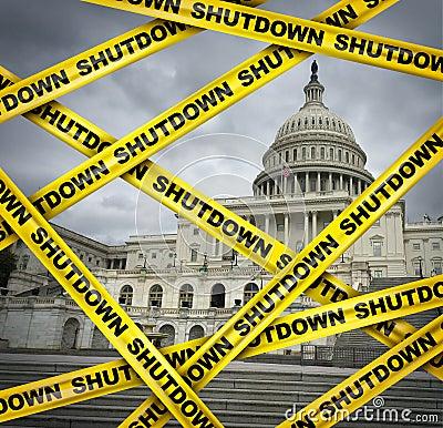 Free American Shutdown Royalty Free Stock Images - 137218589