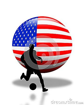 American Soccer Football Logo