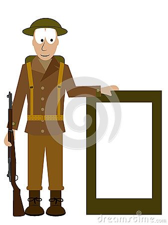 American soldier shows a signs