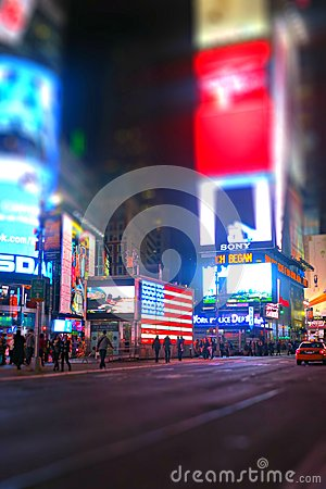 Times Square in New York City Editorial Photography