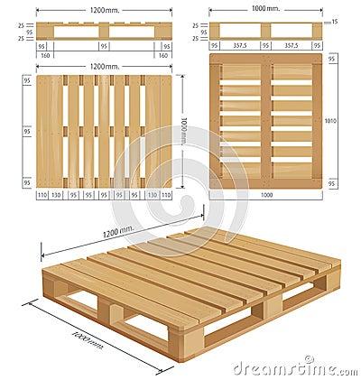 American Standard Pallet Views Stock Vector Image 54792154