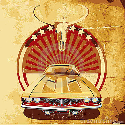 Free American Style Poster II Royalty Free Stock Photos - 11132718