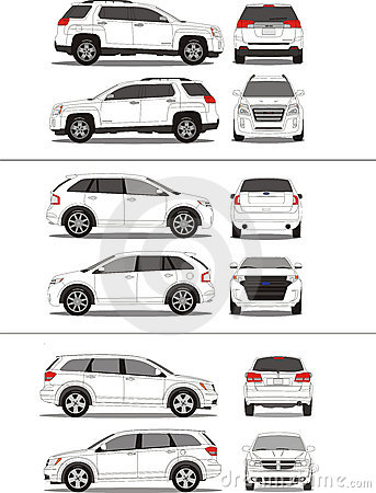American SUV vehicle outline