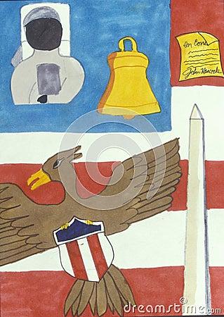American symbols of freedom Editorial Image