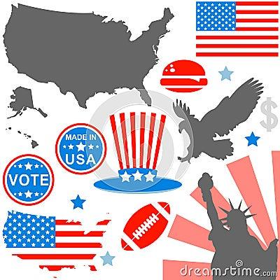 American symbols set
