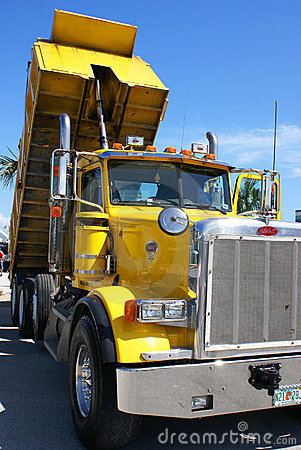 American tipper truck Editorial Stock Image