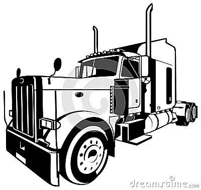American Truck Stock Vector Image 55692140