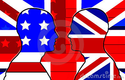 American And UK Flag Heads 31