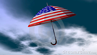 American Umbrella In The Sky