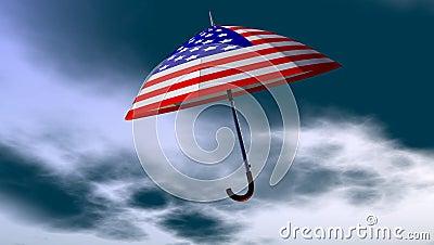 American Umbrella In The Sky
