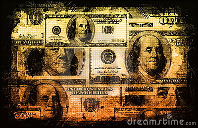 American US Dollars Currency Abstract