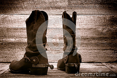American West Rodeo Cowboy Boots in Old Wood Barn