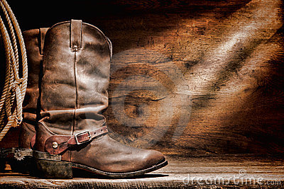 American West Rodeo Cowboy Boots and Western Spurs
