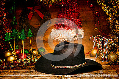 American West Rodeo Cowboy Hat for Christmas Card