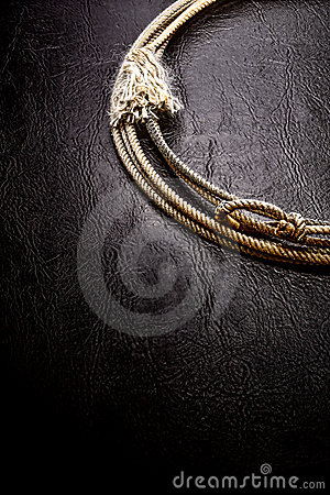 American West Rodeo Lariat Lasso Black Background