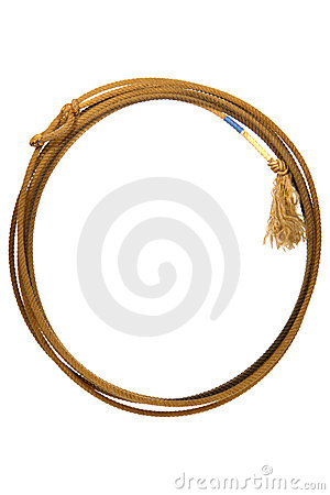 American West Rodeo Lasso Lariat Rope Isolated