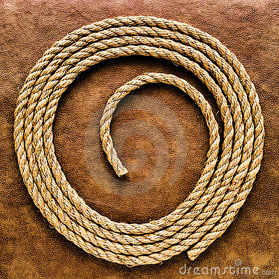 American West Rodeo Rancher Rope on Grunge Leather