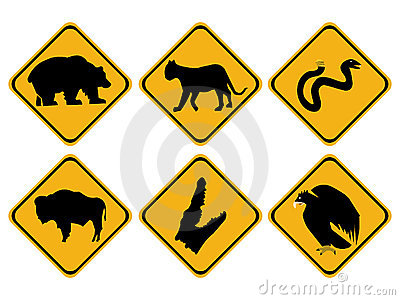 American wildlife signs