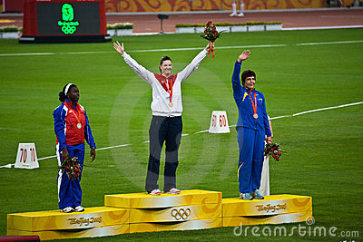 American Woman Wins Gold medal Editorial Stock Image