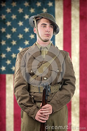 Free American World War 1 Soldier. 1917-18. Stock Photography - 105182382