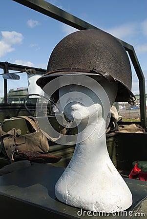 American World War Two helmet