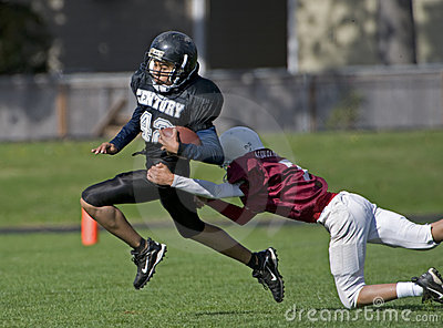 American youth Football tackle Editorial Photography