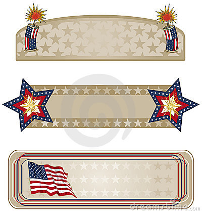 Free Americana Banners More Royalty Free Stock Photos - 16016868