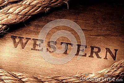 Americanen som brännmärker den gammala rodeoen, stämplade västra västra