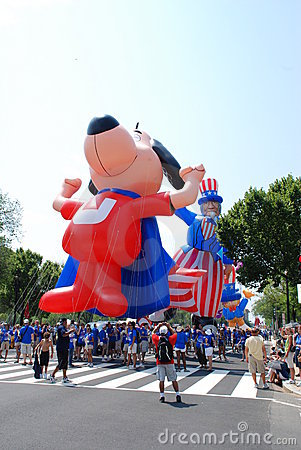 America's 2008 Independence Day parade. Editorial Stock Image