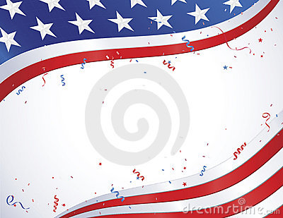 Amerikanische Flagge mit Confetti