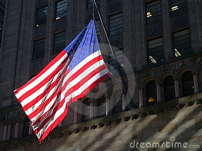 Amerikanische Flagge in New York City