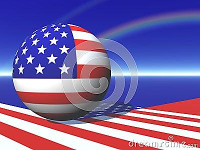 Amerikanische Kugel-Karte