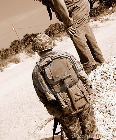 Amerikanische WWII Soldaten