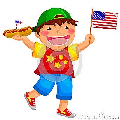 Amerikanischer Junge