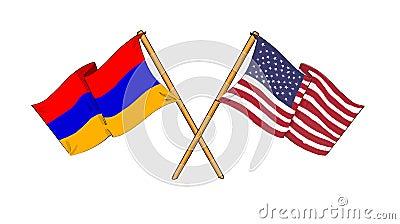 Amerikanisches und armenisches Bündnis und Freundschaft