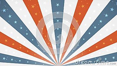 Amerikanisches viertes der Juli-Hintergrundrotationsschleife vektor abbildung