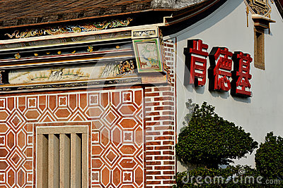 Amerikansk fastfoodKFC restaurang i kinesisk arkitektur Redaktionell Arkivbild