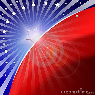 Amerikansk stylized bakgrundsflagga