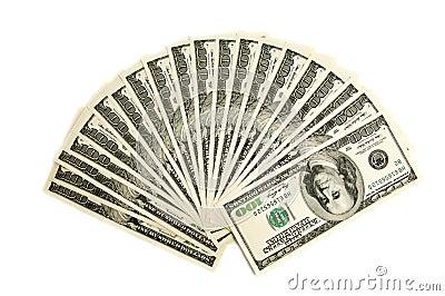 Amerikanska dollar tusen två