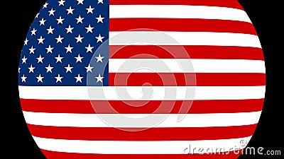 Amerikas förenta staterflaggaövergång 4K stock illustrationer