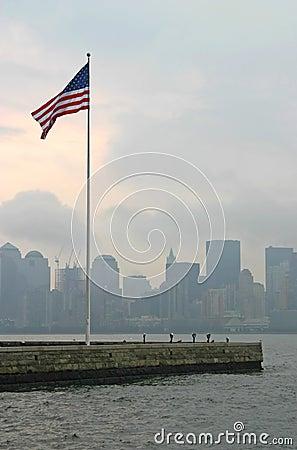 Amerykańska flaga, nowy jork
