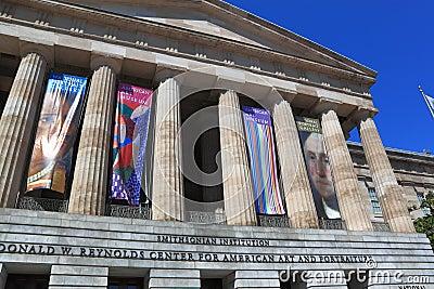 Amerykański muzeum sztuki Smithsonian Fotografia Editorial