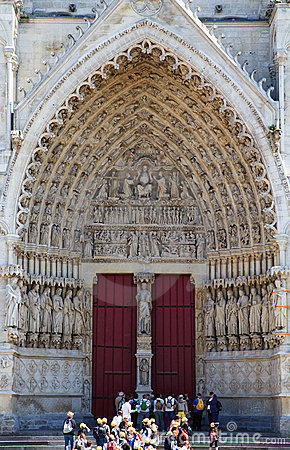 Amiens Cathedral France 6 Editorial Photo
