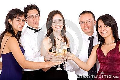 Amigos que celebran