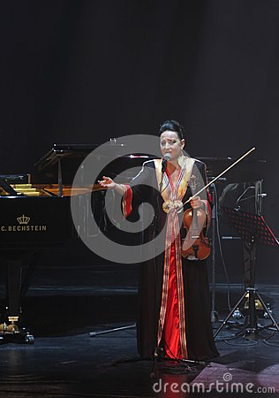Amina Srarfi & El Azifet performs at Bahrain Editorial Photo