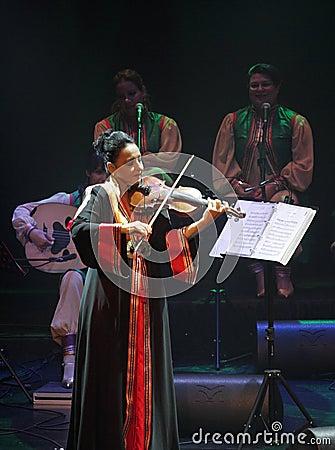 Amina Srarfi & El Azifet performs at Bahrain Editorial Image