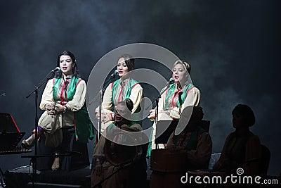 Amina Srarfi & El Azifet performs at Bahrain Editorial Stock Photo