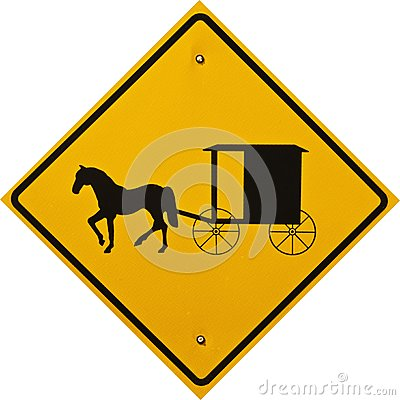 Amish Cart and Buggy Sign