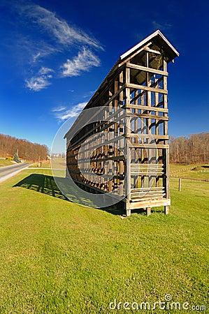 Amish corn crib